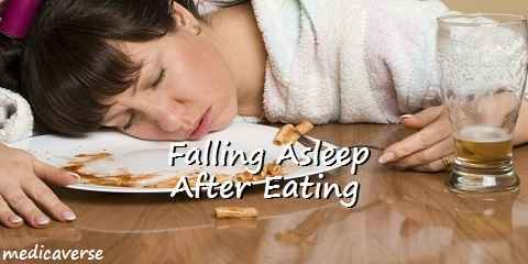 falling asleep after eating