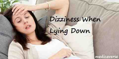 dizziness when lying down